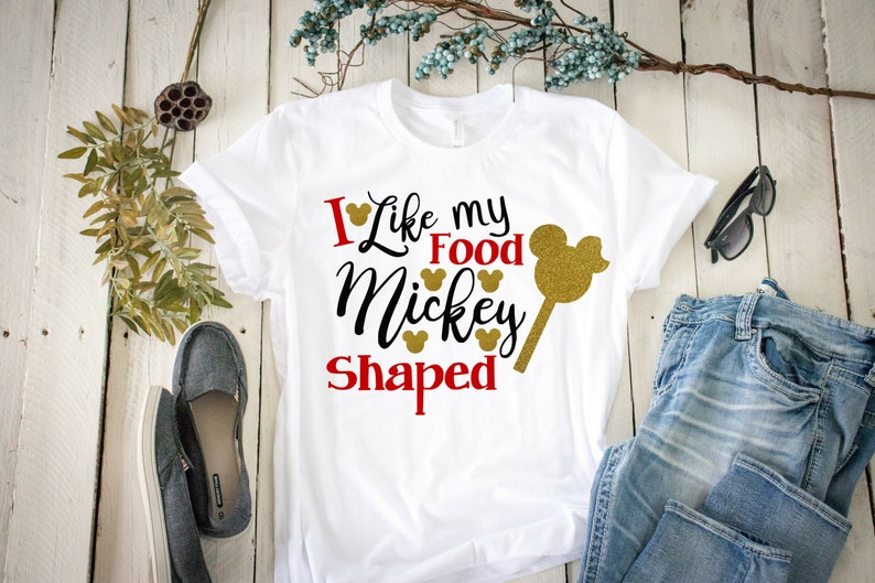 Disney Shirt I like my food Mickey Shaped Shirt Disney Snacks Disneyland Disney tank top Mickey Shirt Disney World Mickey Food