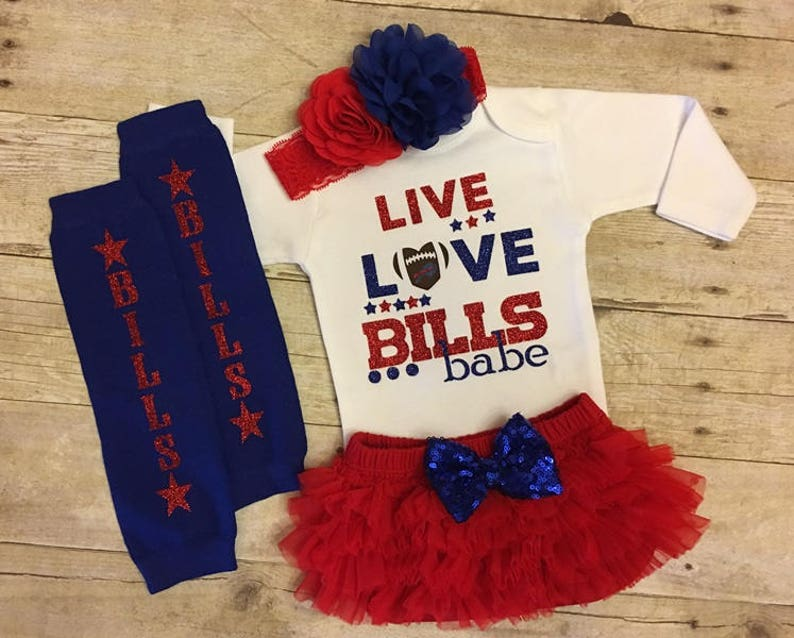 huge selection of 3f81c cf867 Live love bills babe, baby fan gear, I love the Bills, Buffalo Bills  football, Bills baby, baby girl clothes, baby shower gift
