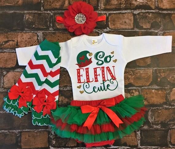 Baby Christmas Outfit So Elfin Cute newborn Christmas | Etsy