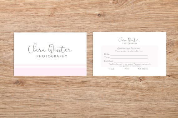 Photographer Client Reminder Card Digital Photoshop Template