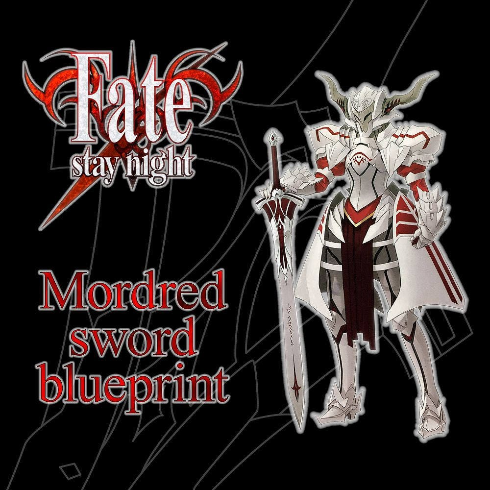 Fate Stay Night Mordred Sword Etsy Origami Diagrams This Is The We Make In