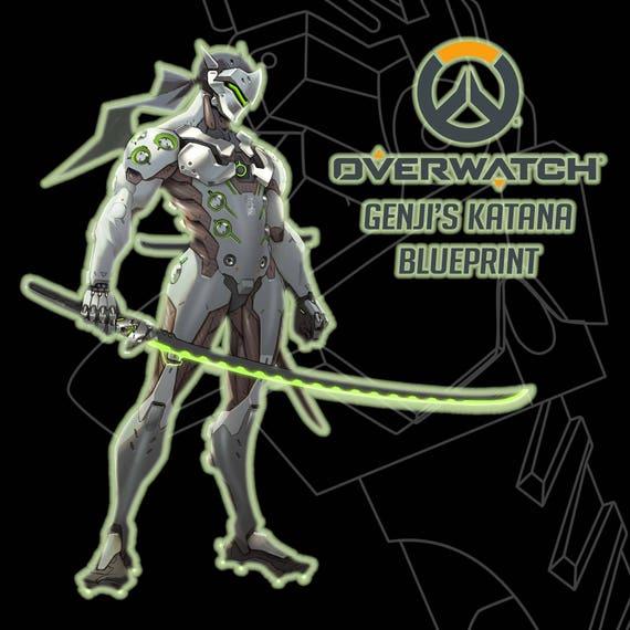 Overwatch genjis katana blueprint from tenshinodogu on etsy studio malvernweather Choice Image