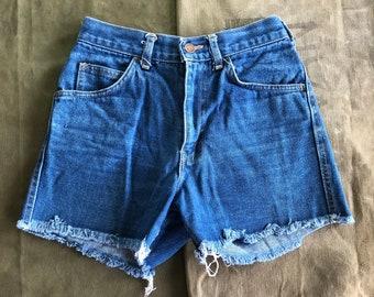 70s Dude's Cut Off Denim Vintage Shorts- Small