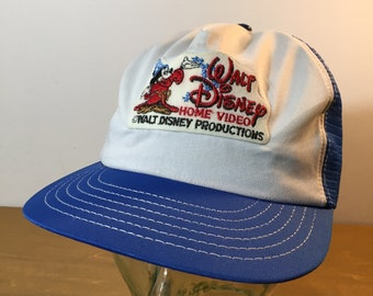 dc962ab1798 80s Walt Disney Home Video Mesh Back Vintage Hat - Mickey Mouse