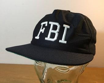 7f80361d724 80s FBI Vintage Hat