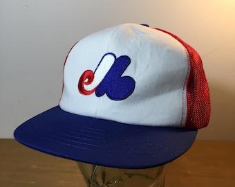 536d6bd544b 80s 90s MLB Montreal Expos Mesh Back Vintage Hat   Ted Fletcher Sports