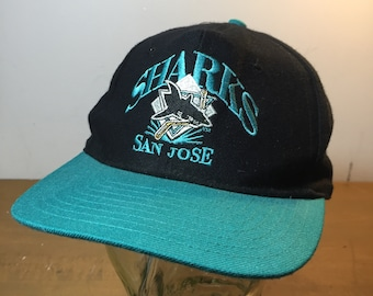 7b0cb035 90s NHL San Jose Sharks Vintage Hat