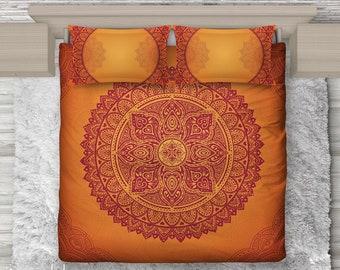 Bettwaesche Orange Etsy