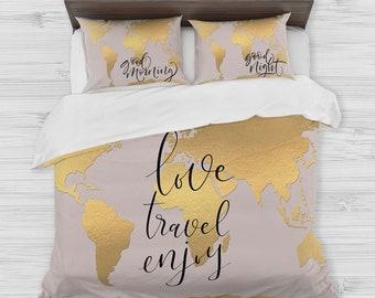 Map bedding | Etsy
