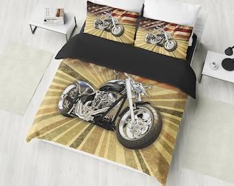 Harley Davidson Bedding Etsy