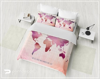 World Map Duvet Cover Map duvet cover | Etsy World Map Duvet Cover