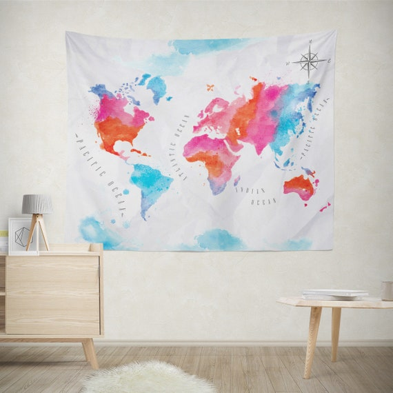 Watercolor World Map Tapestry, Large Wall Tapestry, Backdrop Tapestries, on world map tapestry urban outfitters, world map paintings, world map dresses, world map bedroom decor, world map blankets, world map patterns, world map canvas, world map mirrors, world map souvenirs, world map pillows, world map t-shirts, world map watercolors, world map calligraphy, world map wallpaper, world map photography, world map vases, world map drawings, world map tiles, world map gold, world map scarves,