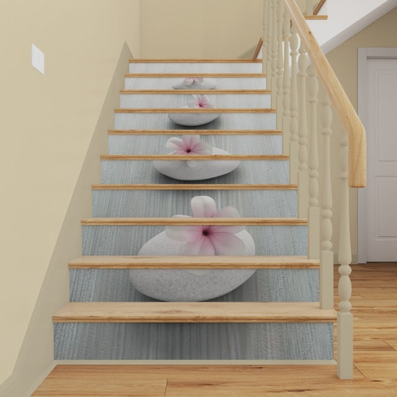 Feng Shui Stairs Mural Peel Stick Stair Risers Decal 3d Zen Meditation Staircase Mural Stairway Decor Removable Wallpaper Sticker