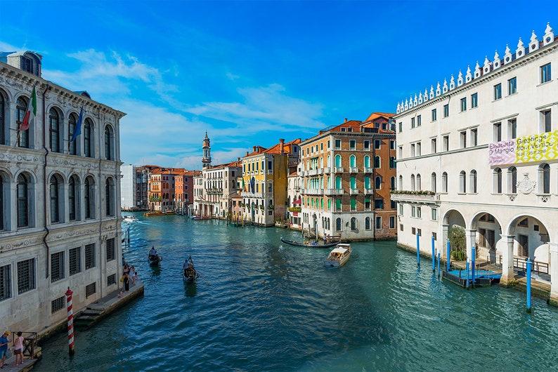 Large Wall Mural Self Adhesive Peel /& Stick Mural Wall Murals Venice Grand Canal WALL MURAL Gondola Boats Wallpaper Mural Venice Italy