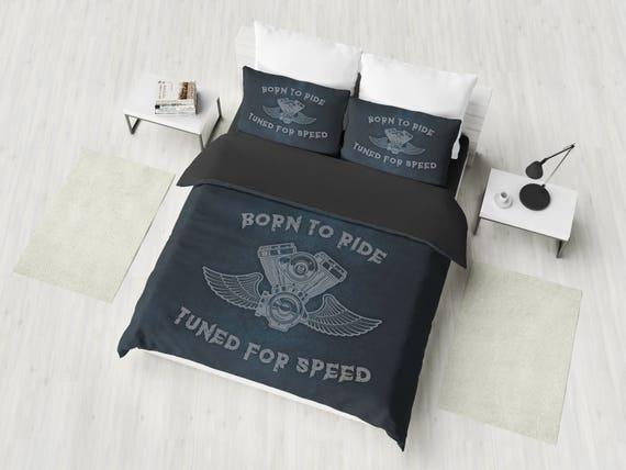 Harley Bedding Set American Chopper, Harley Davidson Queen Size Bed Sheets