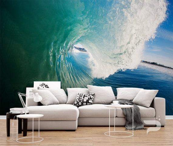 3D Vast natural beach wave Wallpaper Decal Dercor Home Kids Nursery Mural  Home