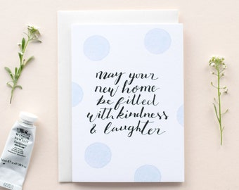 New Home Card | New House | Housewarming | First House Card | Moving House | Leaving Card | New Homeowners | The Hidden Pearl Studio