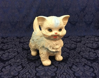 Vintage Squeeky Cat Kitten with Sleepy Eyes Edward Mobley Co Arrow Rubber