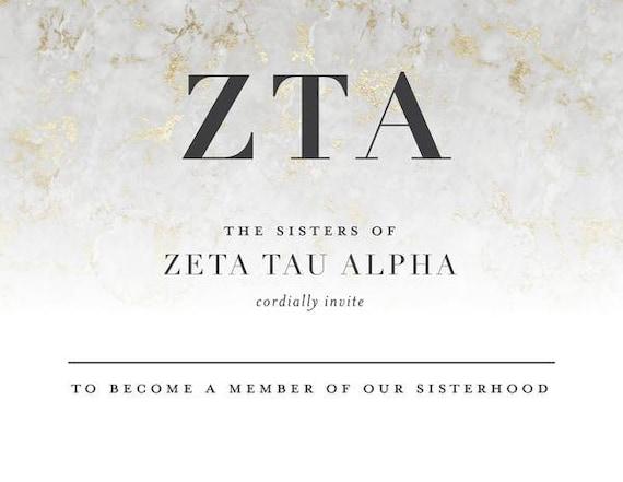 Zeta Tau Alpha Marble Sorority Tank  Gray  Marble Lettering  Greek Tank Tops  Sorority  Bid Day Gift  Zeta Tank