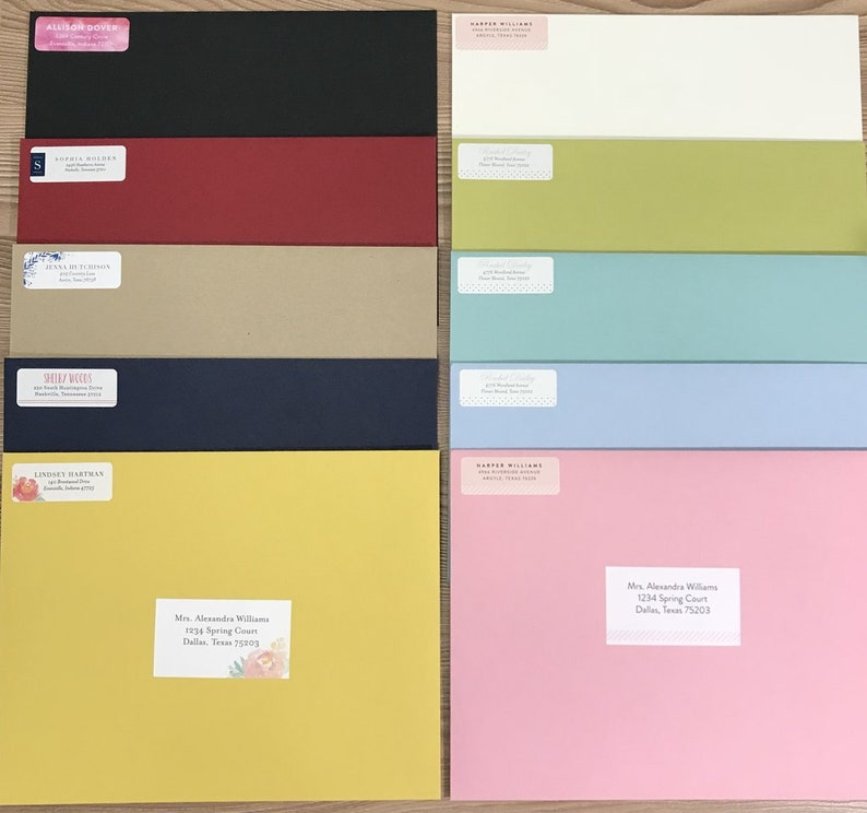 Colorful Presentation Envelopes / Colorful Mailing Envelopes / Envelopes  for Sorority Packets / Thick Envelopes / Luxe Envelopes