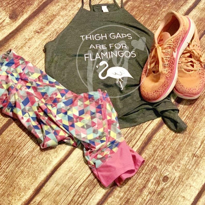 Flamingo Tank Top  Fun Workout Tank  Crazy Life  Messy  Life  Fun Tank for Mom  Cute Ladies Tank Thigh Gap Tank