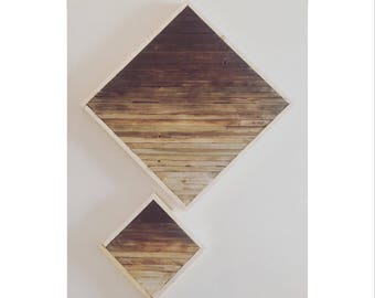Diamond Gradient Reclaim Wood Wall Art