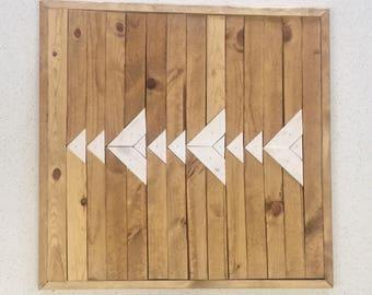 Reclaimed Wood Triangle Wall Art