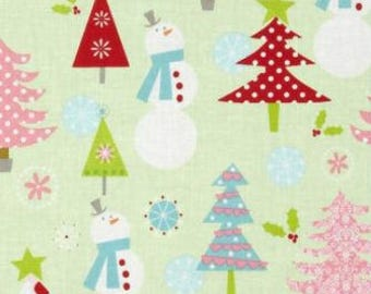 Riley Blake Christmas Basics Main/Lime/Cotton/Fabric/Sewing/Quilting