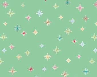 Riley Blake Christmas Cozy Sparkle/Mint/Fabric/Cotton/Sewing/Quilting/Christmas