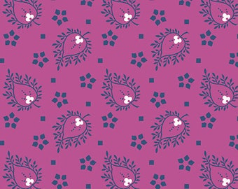 Andover Floral Paisley/Joyful by Quilted Koala/Purple/Cotton/Fabric/ Sewing/ Quilting/ Quilt/