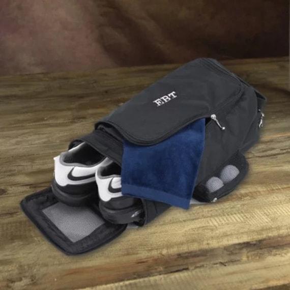Golf Shoe Bag >> Personalized Black Golf Shoe Bag Golf Bag Caddy Bag Personalized Sports Bag Embroidered Golf Bag Golf Club Bag Custom Golf Bag