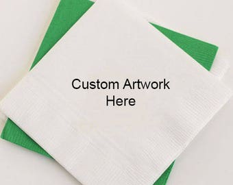 Custom Artwork Napkins