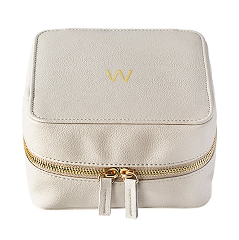 23 Best Travel Gifts for Her featured by top US travel blogger, Marcie in Mommyland: Personalized Gray Travel Tech Case Personalized Electronics image 0