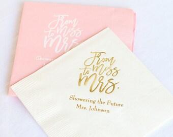 Personalized Wedding Napkins