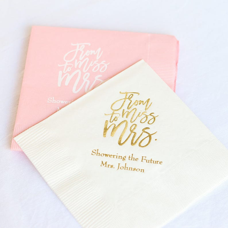 Personalized Wedding Napkins Personalized Wedding image 0