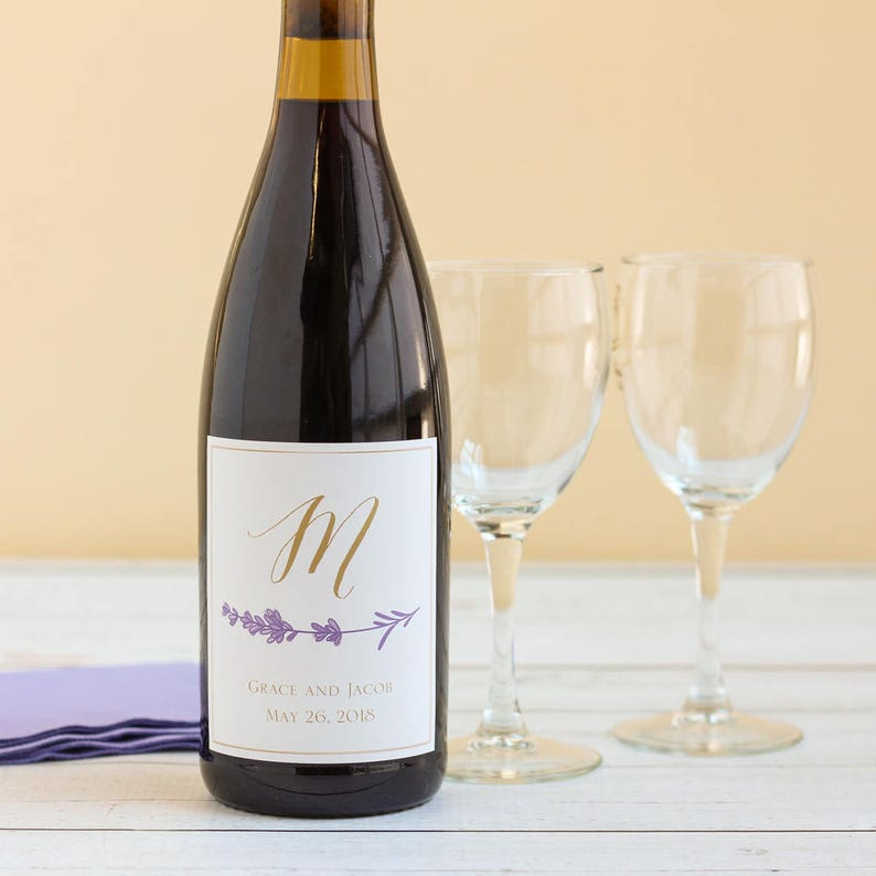 Personalized Wedding Wine Bottle Labels Personalized Wine Etsy