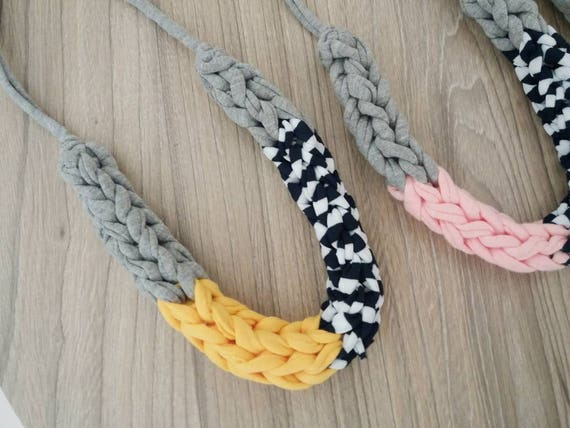 Statement Colour Block Crochet Necklace // Gift for Her // Birthday // Customised Jewellery