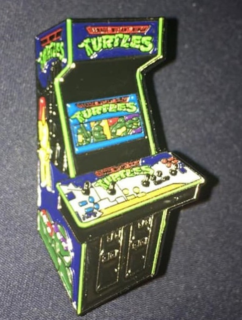 TMNT arcade game enamel pin