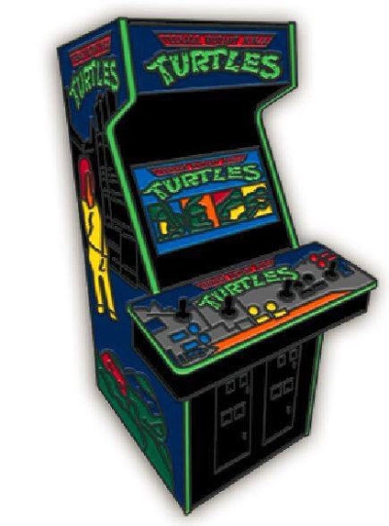 TMNT arcade game enamel pin