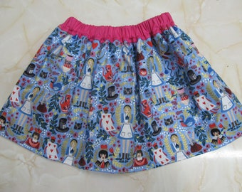 Sale - Alice In Wonderland Children's Skirt - Sizes 2T and 3T