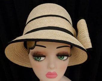 "e4f3406218cf9 Lovely ""Hats Off"" Kate Spade New York Ladies 100% Wheat Straw Hat"