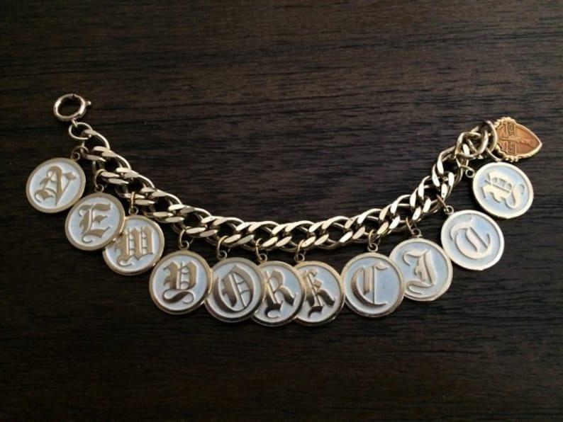 Vintage 1950\u2019s New York City Souvenir Charm Bracelet  FREE SHIPPING