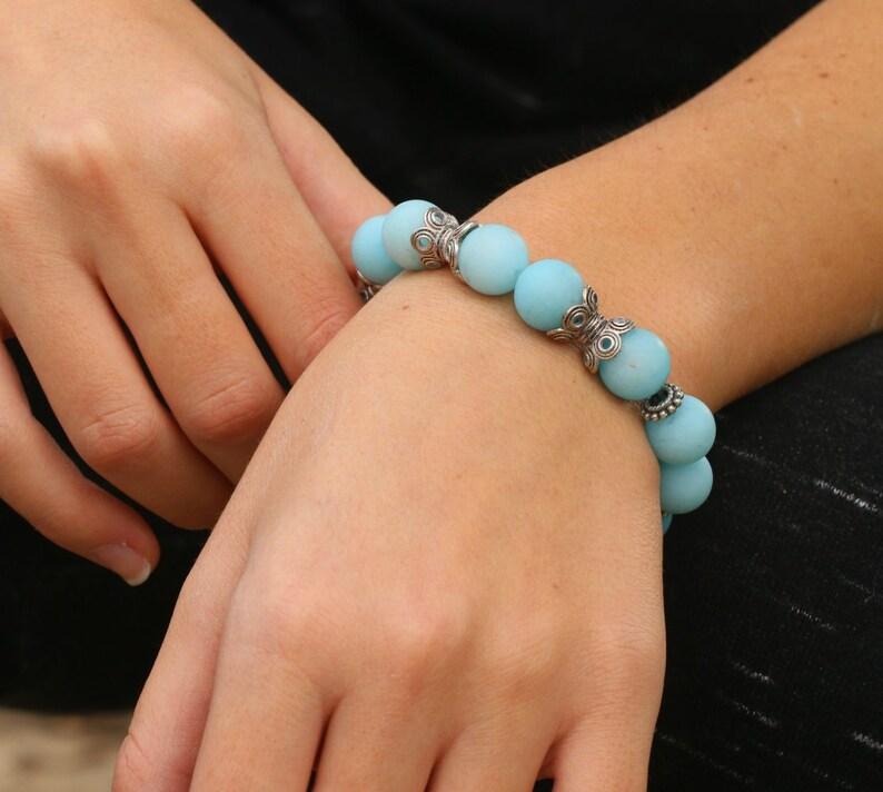 Bracelet Set Turquoise Silver Bracelets Heart Charm Bracelet Bracelet for Women Jade Bracelets Turquoise Bracelets Beaded Bracelet Set