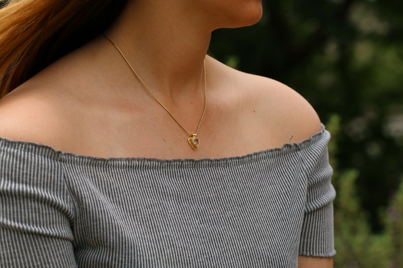 Dainty Necklaces for Women,Clear Quartz Necklace,Crystal Quartz Necklace,Jewelry Necklace,Anniversary Gifts for Her,Handmade Jewelry