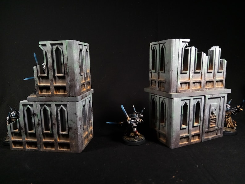 3D Printable Tabletop Terrain: Cathedral Walls Scenery  STL