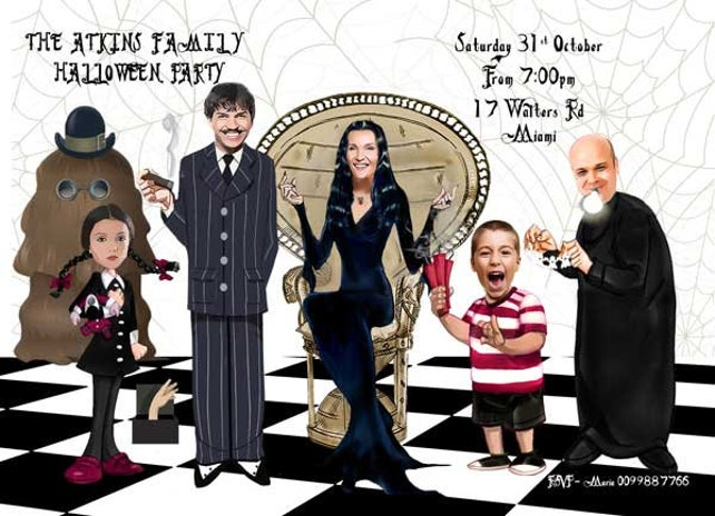 halloween invitation addams family halloween parody invitation funny halloween invitation morticia gomez addams lurchhalloween party