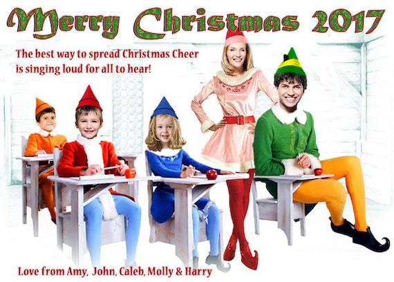 buddy the elf christmas card elf the movie christmas card