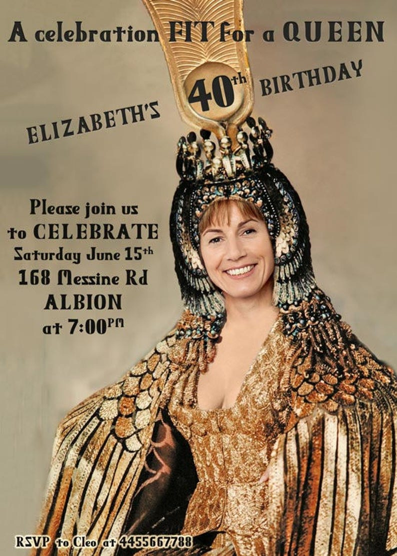 Womans 40th Birthday Party Invitation Created With Your