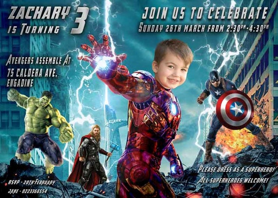 Iron Man Birthday Invitation Ironman Invite Parody Avengers Etsy