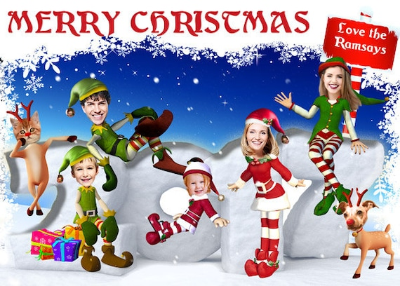 Funny Family Christmas Card Family Photo Christmas Card
